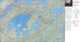 Bwca Map Wild Map Snowbank U0026 Old Pines Trail Terrain Quiet Wild Llc