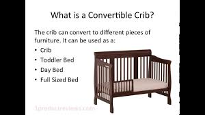 How To Convert A Crib To Toddler Bed by Convertible Crib Review Convertible Crib Youtube