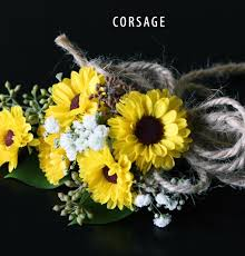 sunflower corsage vintage sunflower collection bridal flowers to go