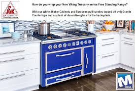 Viking Kitchen Cabinets by White Shaker Kitchen Cabinets Blue Viking Range Chandler Az