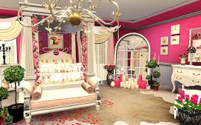 very romantic bedroom decor with classic ottoman and pillar bed