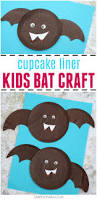 cupcake liner bat craft for kids crafts on sea
