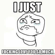 Love You So Much Meme - i just fucking love you so much crying meme meme generator