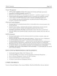 Resume Templates For Construction Workers Sle Resume Template