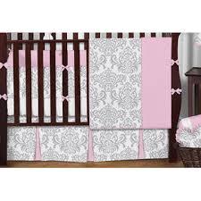 Sweet Jojo Designs Pink And Gray Elizabeth Collection 9pc Crib