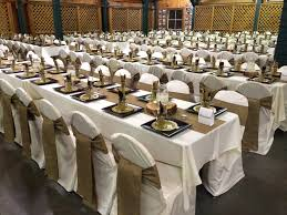 cheap tablecloth rentals cheap chair covers for sale weddings burlap table runners and