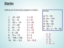 multiplying and dividing negative number powerpoin by