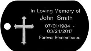 in loving memory dog tags custom cross memorial dog tag t098