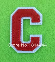 free shipping embroidery alphabet letters patch on white felt