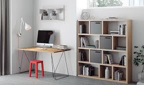 pieds de bureau design bureau design loft plateau en chên et pieds en métal acier noir