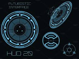 futuristic hud touch gui elements illustrations creative market