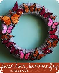 feather butterfly wreath diy a beautiful mess