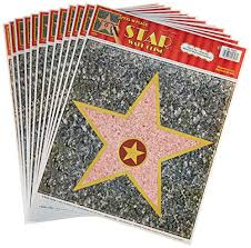 personalized hollywood walk of fame stars decor 12 pack import