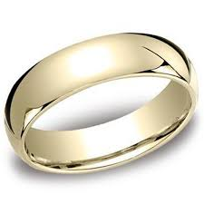 mens gold wedding band benchmark 10k yellow gold 6mm comfort fit plain mens wedding band