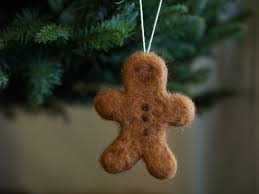 make a gingerbread man christmas ornament needle felting