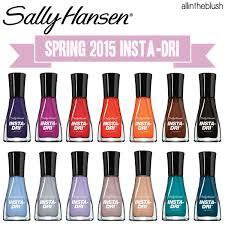 sally hansen insta dri spring 2015 nail colors