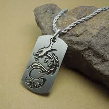 steel dog tag necklace images Men fashion jewelry titanium steel dog tag necklace for teen boy jpg