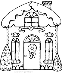 gingerbread house color christmas coloring pages holiday