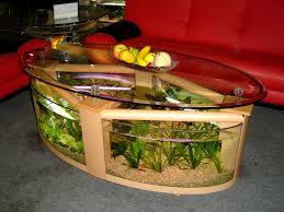 living room futuristic oval shape glass aquarium design for
