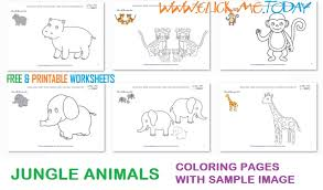printable jungle animals example coloring pages sample color