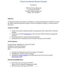 Sample Resume Project Coordinator by Sample Resume Activities Coordinator