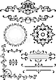 decorative corner border frame graphic stock vector colourbox