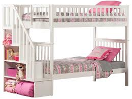 Fun Ideas White Bunk Bed With Stairs Design Ideas  Decors - Girls white bunk beds