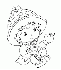 extraordinary baby strawberry shortcake coloring pages baby