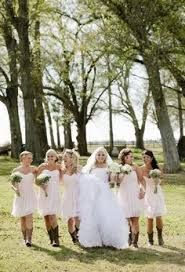 bridesmaid dresses with cowboy boots jennifer weems photography