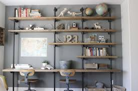 pipe desk with shelves trend watch wood and pipe construction ana white woodworking