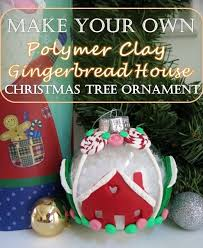 how to make a gingerbread house ornament with polymer