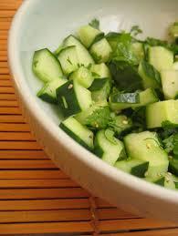 cuisiner les concombres la salade du concombre dé masqué esterkitchen