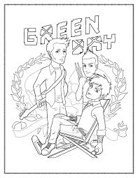 green day coloring page by kelly42fox on deviantart