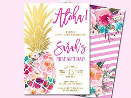 birthday invitation card luau birthday invitations