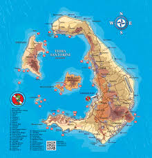 Greece Islands Map by Aegean Divers Santorini Diving Holidays In Greece