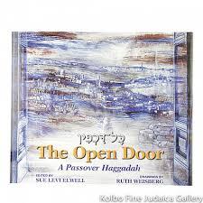 passover book haggadah open door a passover haggadah pb kolbo judaica gallery