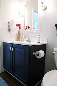 navy blue bathroom ideas navy blue vanity cabinet using stylish mirror for chic bathroom