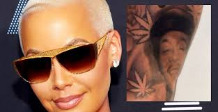 its urban amber rose inked over her wiz khalifa tattoo with