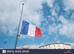Why Are The Flags Flying Half Mast French Flag Tricolor Flying At Half Mast In Solidarity Terrorist