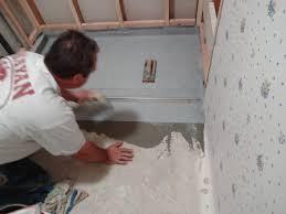 Basement Flooring Tiles With A Built In Vapor Barrier Installing A Zero Clearance Shower Drain Building Moxie