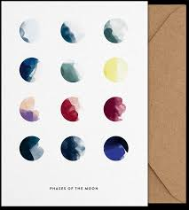 moon phases art card print print poster and the o u0027jays
