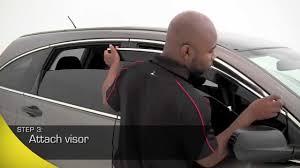 jdm oem lexus window visors avs low profile ventvisor window deflectors installation youtube