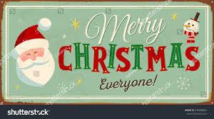 vintage metal sign merry christmas everyone stock vector 346848863