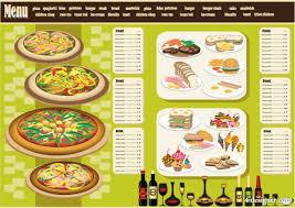 4 designer restaurant menu design 04 vector material