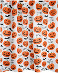 amazon com halloween shower curtain flying witch haunted house