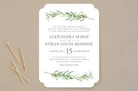wedding invatation minted wedding invitation simple sprigs wedding invitations erin