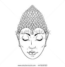 buddha hand tattoo buddha head elegant vector illustration symbol stock vector