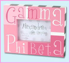 sorority picture frames gamma phi beta accessories something