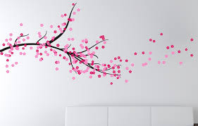 cherry blossom tree branch stunning wall designs and stickers