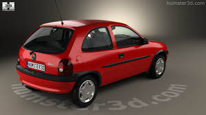opel door 360 view of opel corsa b 3 door hatchback 1998 3d model hum3d